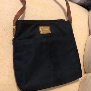 Calvin Klein nylon crossbody navy blue bag